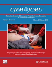 Canadian Journal of Emergency Medicine Volume 20 - Issue 2 -