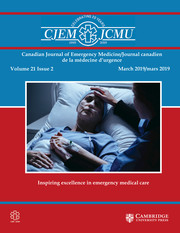 Canadian Journal of Emergency Medicine Volume 21 - Issue 2 -