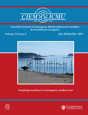 Canadian Journal of Emergency Medicine Volume 21 - Issue 4 -