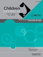 Children Australia Volume 39 - Issue 2 -