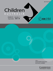Children Australia Volume 39 - Issue 3 -