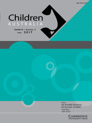 Children Australia Volume 42 - Issue 2 -