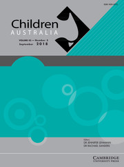 Children Australia Volume 43 - Issue 3 -