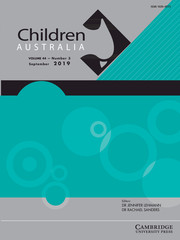 Children Australia Volume 44 - Issue 3 -