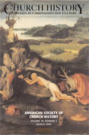 Church History Volume 78 - Issue 1 -