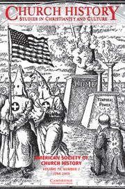 Church History Volume 78 - Issue 2 -
