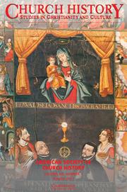 Church History Volume 80 - Issue 1 -