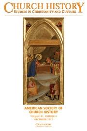 Church History Volume 81 - Issue 4 -