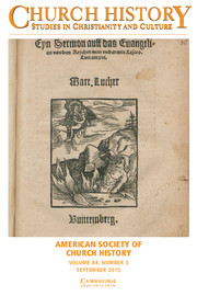 Church History Volume 84 - Issue 3 -