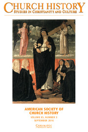 Church History Volume 85 - Issue 3 -