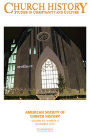 Church History Volume 88 - Issue 4 -