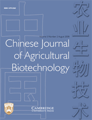 Chinese Journal of Agricultural Biotechnology Volume 5 - Issue 2 -