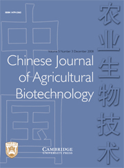 Chinese Journal of Agricultural Biotechnology Volume 5 - Issue 3 -