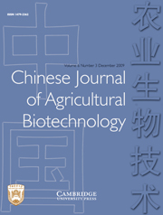 Chinese Journal of Agricultural Biotechnology Volume 6 - Issue 3 -