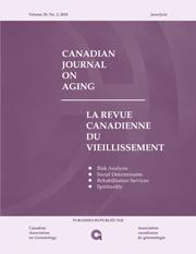 Canadian Journal on Aging / La Revue canadienne du vieillissement Volume 29 - Issue 2 -