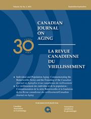 Canadian Journal on Aging / La Revue canadienne du vieillissement Volume 30 - Issue 3 -