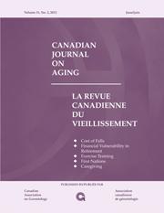 Canadian Journal on Aging / La Revue canadienne du vieillissement Volume 31 - Issue 2 -