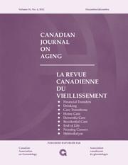 Canadian Journal on Aging / La Revue canadienne du vieillissement Volume 31 - Issue 4 -