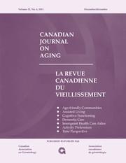 Canadian Journal on Aging / La Revue canadienne du vieillissement Volume 32 - Issue 4 -