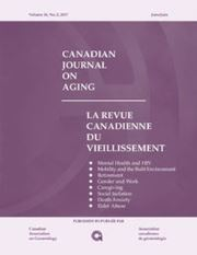Canadian Journal on Aging / La Revue canadienne du vieillissement Volume 36 - Issue 2 -