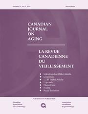 Canadian Journal on Aging / La Revue canadienne du vieillissement Volume 37 - Issue 1 -
