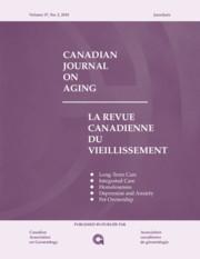 Canadian Journal on Aging / La Revue canadienne du vieillissement Volume 37 - Issue 2 -