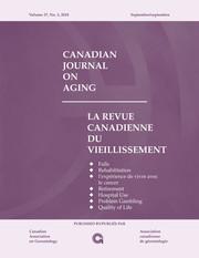 Canadian Journal on Aging / La Revue canadienne du vieillissement Volume 37 - Issue 3 -