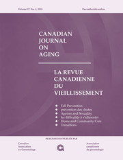 Canadian Journal on Aging / La Revue canadienne du vieillissement Volume 37 - Issue 4 -