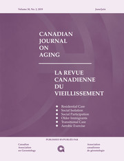 Canadian Journal on Aging / La Revue canadienne du vieillissement Volume 38 - Issue 2 -