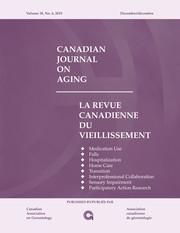 Canadian Journal on Aging / La Revue canadienne du vieillissement Volume 38 - Issue 4 -
