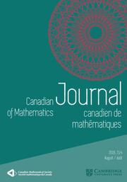 Canadian Journal of Mathematics Volume 71 - Issue 4 -