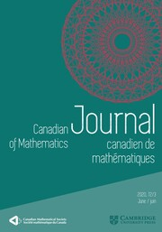 Canadian Journal of Mathematics Volume 72 - Issue 3 -