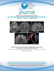 Canadian Journal of Neurological Sciences Volume 43 - Issue 5 -
