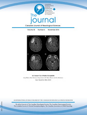 Canadian Journal of Neurological Sciences Volume 43 - Issue 6 -