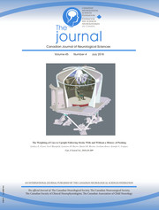 Canadian Journal of Neurological Sciences Volume 45 - Issue 4 -