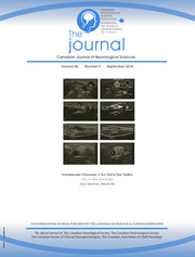 Canadian Journal of Neurological Sciences Volume 45 - Issue 5 -