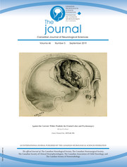 Canadian Journal of Neurological Sciences Volume 46 - Issue 5 -