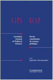 Canadian Journal of Political Science/Revue canadienne de science politique Volume 37 - Issue 3 -