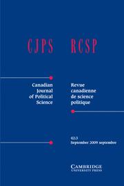 Canadian Journal of Political Science/Revue canadienne de science politique Volume 42 - Issue 3 -
