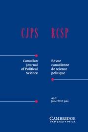 Canadian Journal of Political Science/Revue canadienne de science politique Volume 46 - Issue 2 -