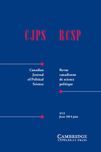 Canadian Journal of Political Science/Revue canadienne de science politique Volume 47 - Issue 2 -