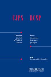 Canadian Journal of Political Science/Revue canadienne de science politique Volume 49 - Issue 4 -