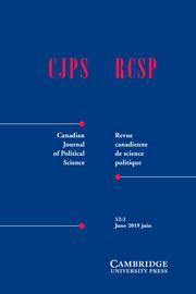 Canadian Journal of Political Science/Revue canadienne de science politique Volume 52 - Issue 2 -