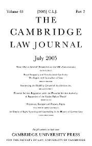 The Cambridge Law Journal Volume 64 - Issue 2 -
