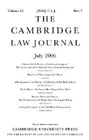 The Cambridge Law Journal Volume 65 - Issue 2 -