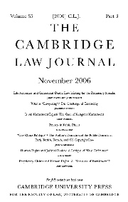 The Cambridge Law Journal Volume 65 - Issue 3 -