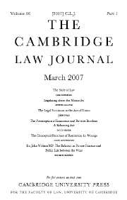 The Cambridge Law Journal Volume 66 - Issue 1 -