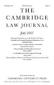 The Cambridge Law Journal Volume 66 - Issue 2 -