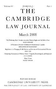 The Cambridge Law Journal Volume 67 - Issue 1 -