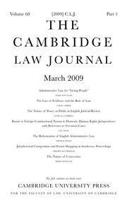 The Cambridge Law Journal Volume 68 - Issue 1 -